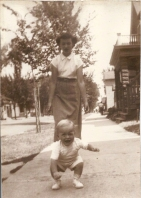 Gary with Lois in 1949