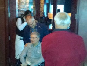 A group of 20 was at the restaurant for a surprise reception from Gary for Paul